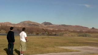 "Jason Bell (FULL) ""Gnat-On-Crack""  Vegas year-end amazing power demo. Aurora 90 Nitro RC Helicopter"