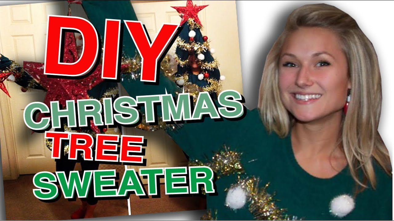 Diy ugly christmas tree sweater youtube diy ugly christmas tree sweater solutioingenieria