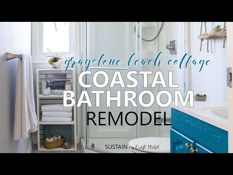 Coastal Cottage Bathroom Reveal // One Room Challenge Week 6