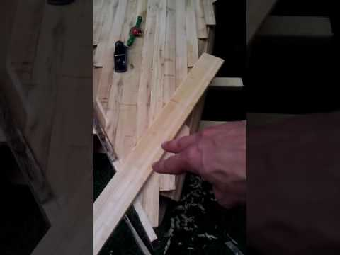 wooden stand up paddle board build: nose block install