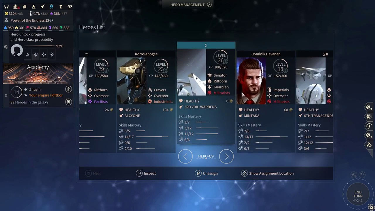 Endless Space 2 - Beginners Guide #2: Heroes and the Academy