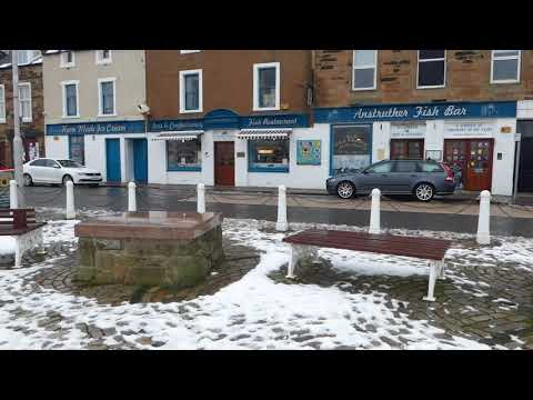 Winter Fish And Chips Shop Anstruther East Neuk Of Fife Scotland