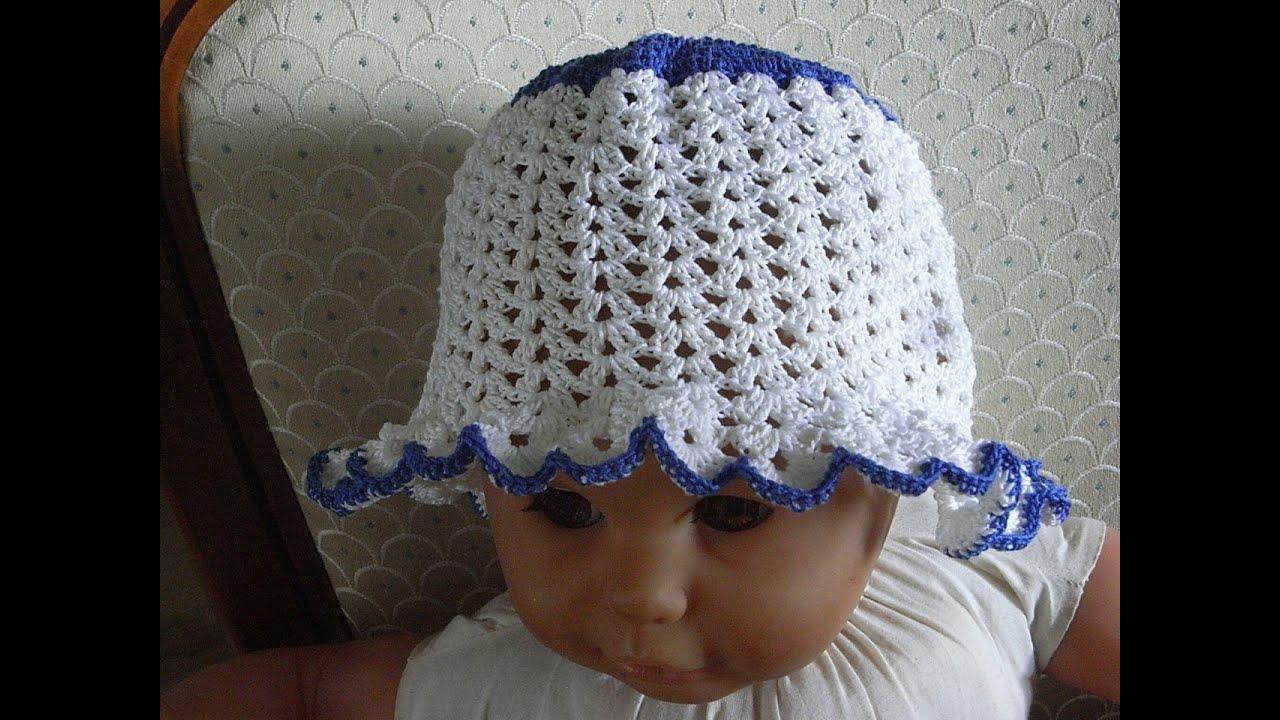 Kindermütze Häkeln Mädchenmütze Sommermütze baby hat crochet ...