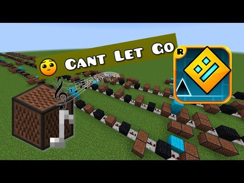 Minecraft: Geometry Dash - Can't Let Go With Note Blocks