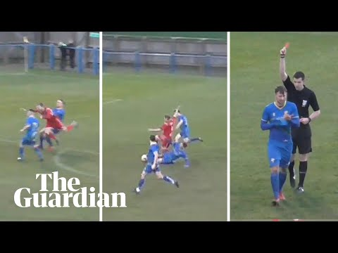 Garforth Town player sent off after two bookings in same passage of play
