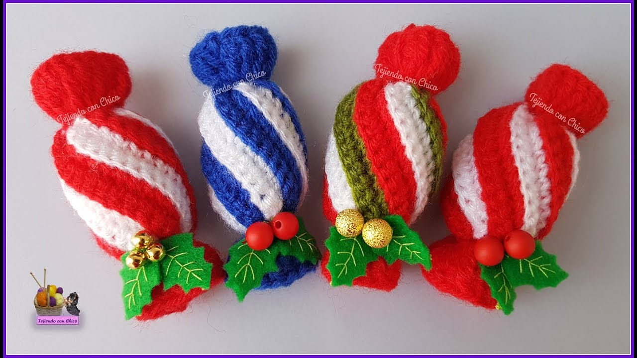 Amigurumis Navidad Paso A Paso : Tutorial amigurumi caramelo navideño youtube