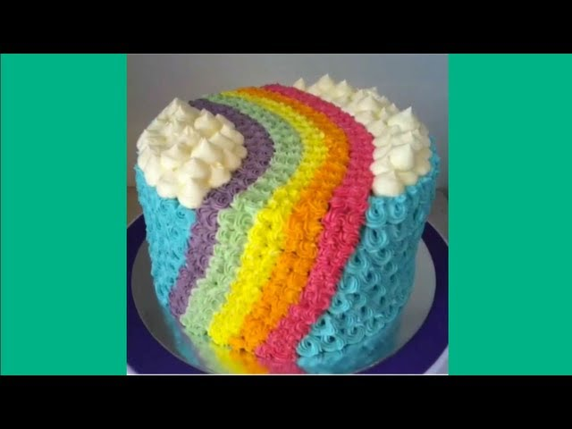 Rainbow cake decorating - stop motion vine video loop- Best Videos on Vine Travel Video