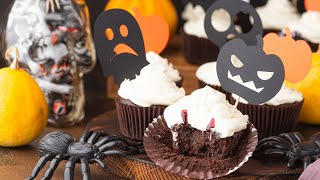 [EN] Brownie Cupcakes (Halloween Style) / براوني كب كيك للهالوين - CookingWithAlia - Episode 751