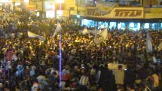 Festejos en Punta Alta. Argentina a la final del mundo