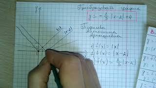 Преобразовать график с модулем у=-(2\3)* x-2 +4