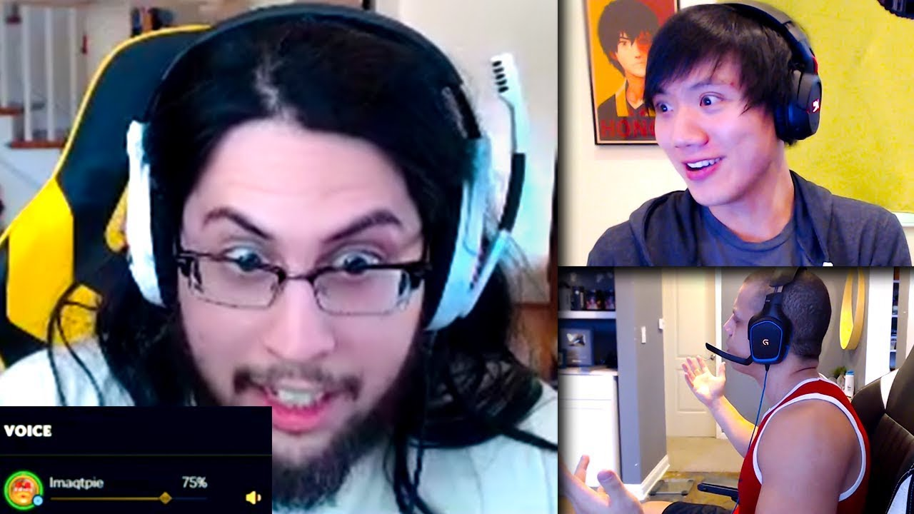 Imaqtpie Reacts to League of Legends VOICE CHAT!? | Box Box & Shiphtur | Trick2g | LoL Funny Mom