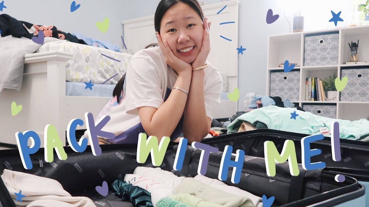 PACK WITH ME FOR COLLEGE!! (the night before my flight LOL)
