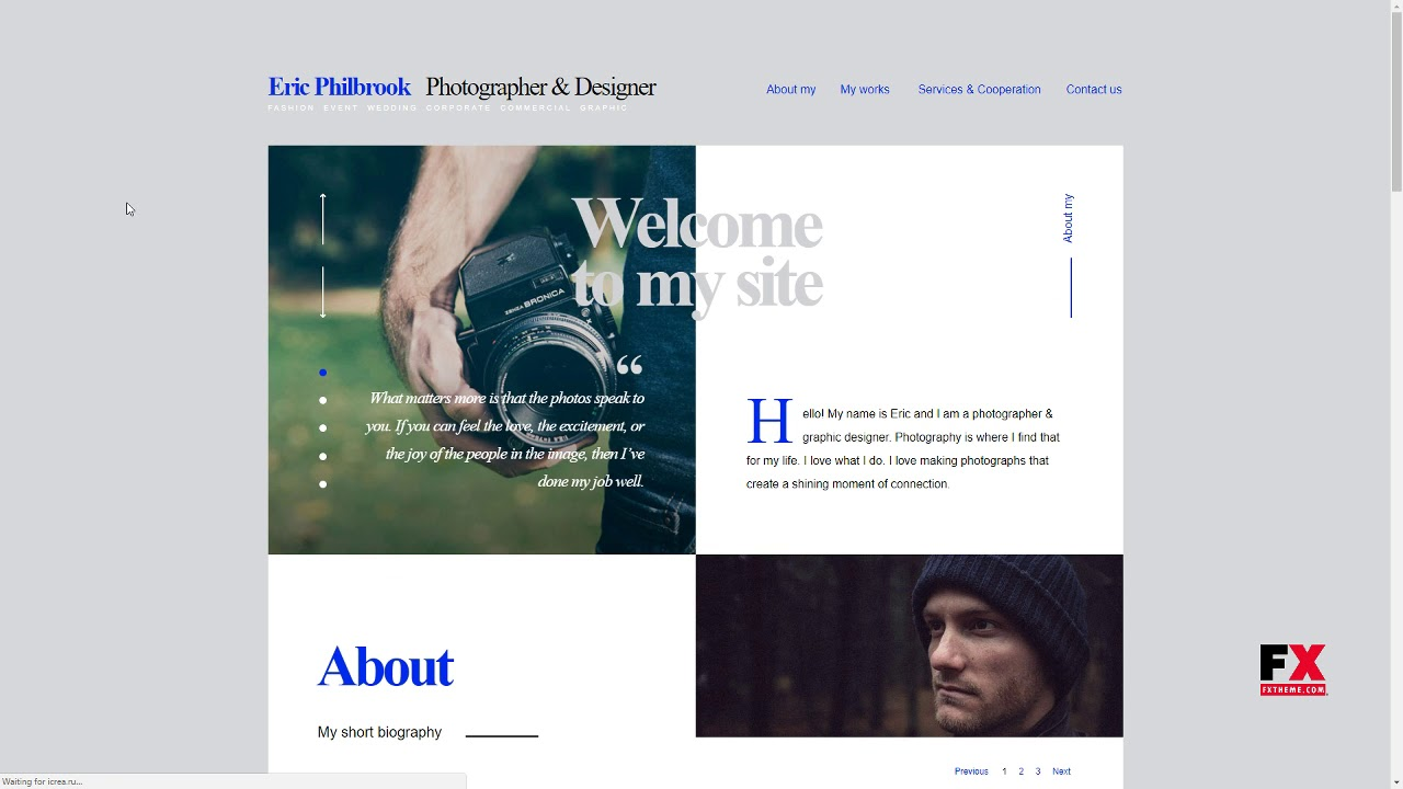 Foliograph For Photographers And Designers Muse Theme Adair Vi Youtube