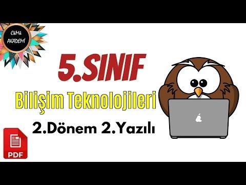 5.SINIF Bilişim Teknolojileri 2.Dönem 2.Yazılı Soruları Ve Çözümü 2019