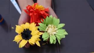 HOW TO MAKE PAPER GERBERA FLOWERS  - DIY FLOWER ARRANGEMENT IDEAS HANDMADE FLOWERS