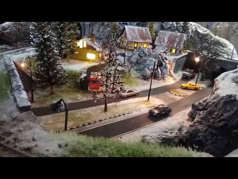 Snowy Modelrailroad Diorama as Coffee Table