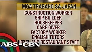 Bandila: Japan to open millions of jobs for Filipinos