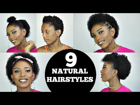 BACK TO SCHOOL EASY 9 SHORT NATURAL HAIRSTYLES + RANT