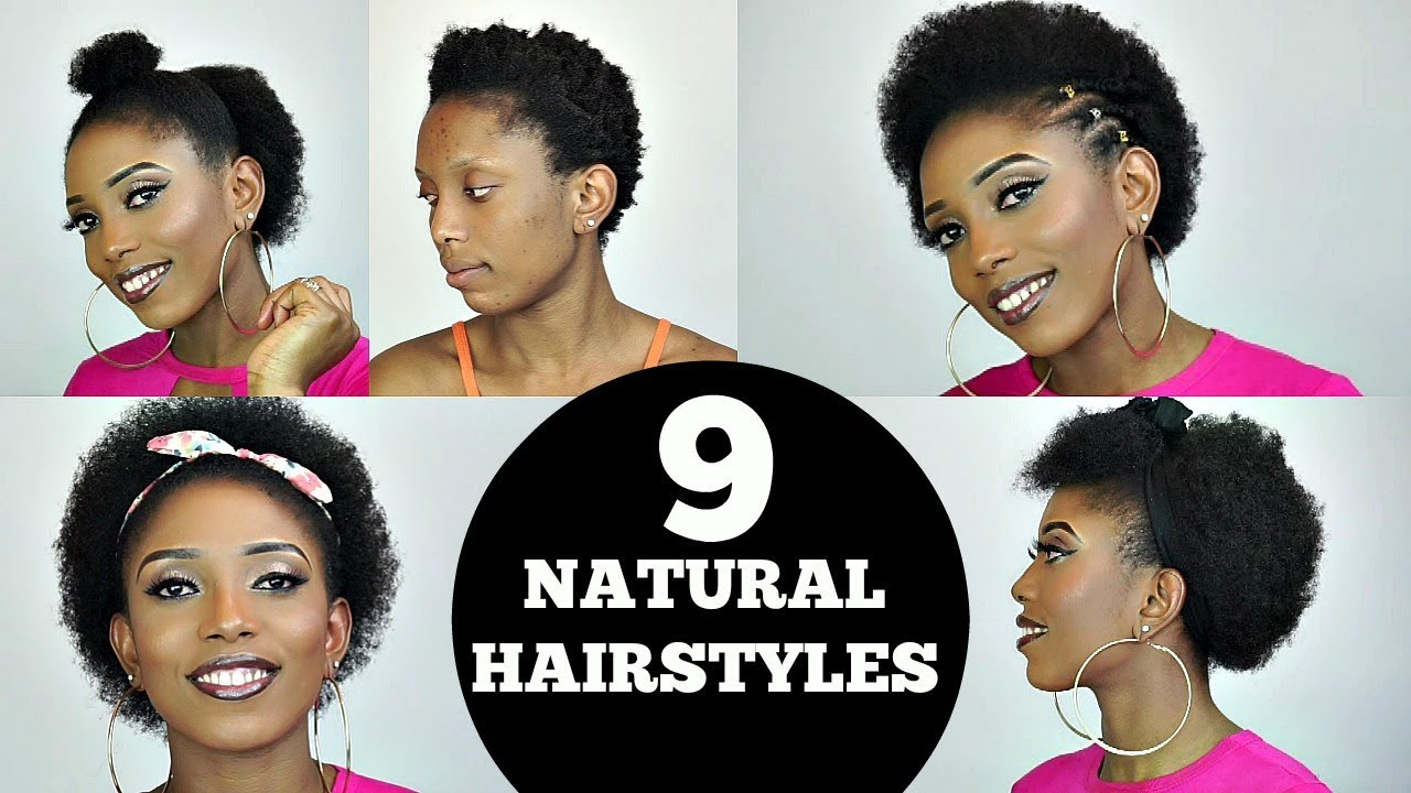 Back To School Easy 9 Short Natural Hairstyles Rant Youtube