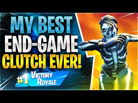 MY BEST END-GAME CLUTCH EVER! (Fortnite Battle Royale)