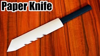 How to make a Paper Knife - Best PAPER KNIFE - (MINI SWORD)