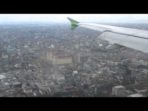 citilink landing at huseinsastranegara bandung in bad weather