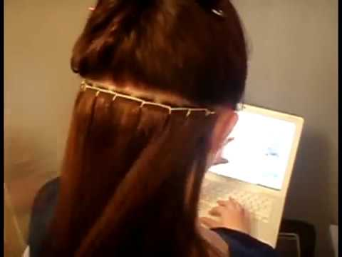 beaded sew in hair extensions tutorial youtube