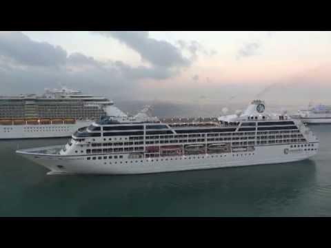 Cruise ships entering port of civitavecchia rome youtube - Cruise port rome civitavecchia ...