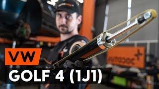 priekšā Amortizators uzstādīšana VW GOLF IV (1J1): bezmaksas video