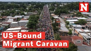 US-Bound Migrant Caravan Swells To 7,000 Despite Trump's Threat To Stop Them
