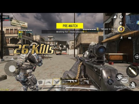 CALL OF DUTY MOBILE TEAM DEATH MATCH MASS KILL MULTILAYER MODE 26 Kills
