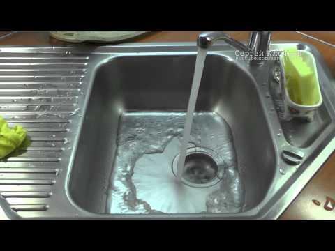 Не уходит вода в раковине - простые вещи