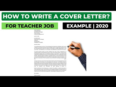 How To Write A Cover Letter For A Teacher Job? (2020) | Example