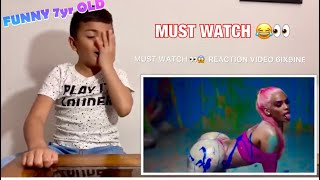 6IX9INE - GOOBA ( OFFICIAL MUSIC VIDEO ) - 7 yr OLD KID FUNNY ! REACTION !