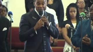pastor singing at his grandad homegoing