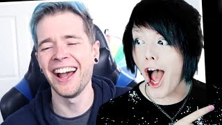 DanTDM REACTS TO ALL MY SONGS!!!