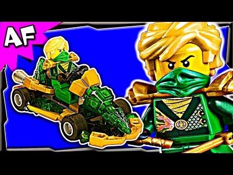 Lloyd GREEN NINJA GO-KART Custom Lego Ninjago Rebooted Building Review 70722 70725 70755