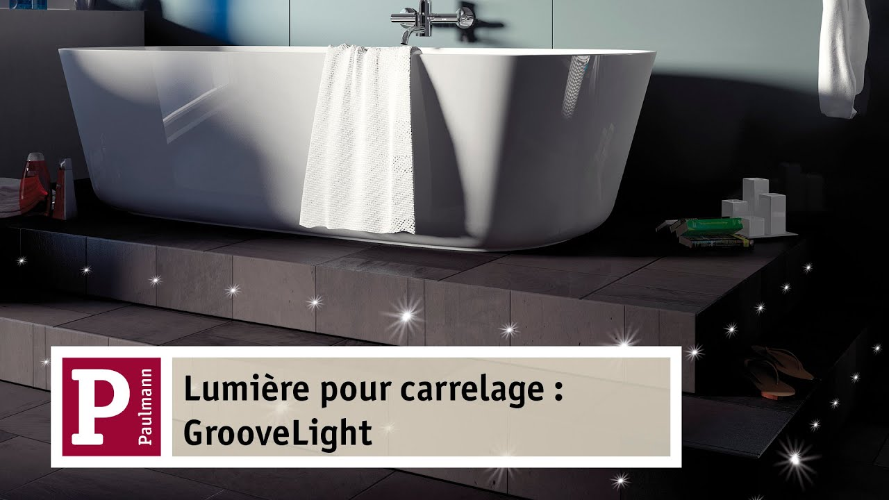 eclairage led pour joints de carrelage youtube With carrelage adhesif salle de bain avec ruban à led