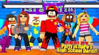 ROBLOX - PARTY IN ROPO'S HIGH SCHOOL DORM ROOM!!