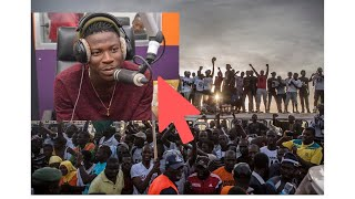 Stonebwoy mobbed at in Gambia