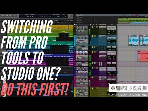 Switching from Pro Tools to Studio One?  Do this First!