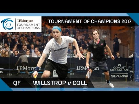 Squash: Willstrop v Coll - Tournament of Champions 2017 QF Highlights