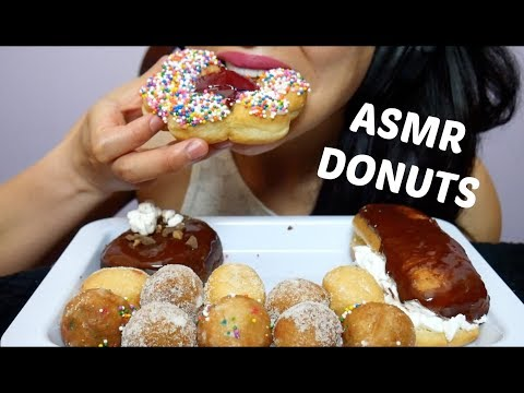 ASMR Tim Hortons DONUTS + TIMBITS (EATING SOUNDS) NO TALKING | SAS-ASMR