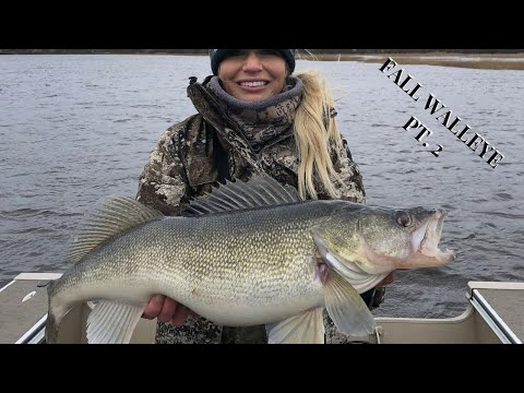 Insane Fall Walleye On Rainy River Part 2 | Biggest Fish Of The YEAR!