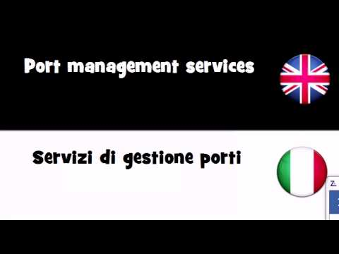 VOCABULARY IN 20 LANGUAGES = Port management services