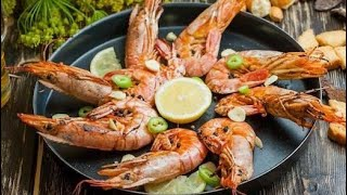 Готовим лангустинов на мангале в чесночном маринаде! / Langoustines on the grill in garlic sauce