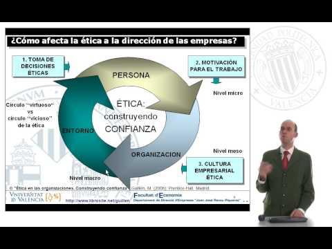 Ética empresarial y en las Organizaciones. Construyendo confianza - 1/7 de YouTube · Duración:  9 minutos 21 segundos  · Más de 119.000 vistas · cargado el 08.12.2009 · cargado por Manuel Guillén