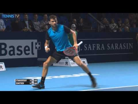 Dimitrov Does The Splits In Basel