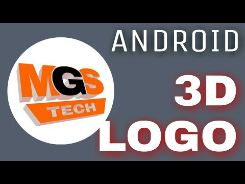 How to make 3d logo with android ! Make 3D Text on Android , hindi/urdu