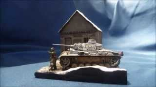 """Snow storm"" diorama, Battle of Kharkov 1943 in 1/72 scale"